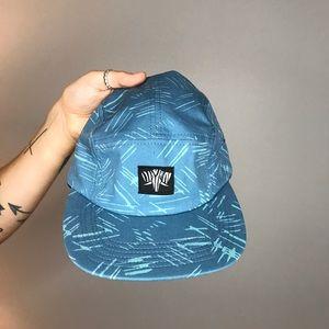 Blue flat top hat